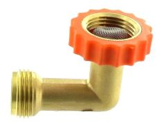 Hose Saver 90°, Brass, Lead-Free, A01-0020VP