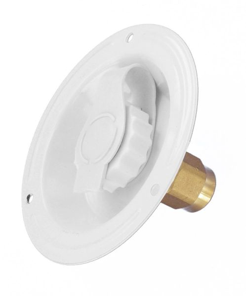 Valterra Water Inlet, Recessed Flange, FPT, Lead-Free, White A01-0176LF