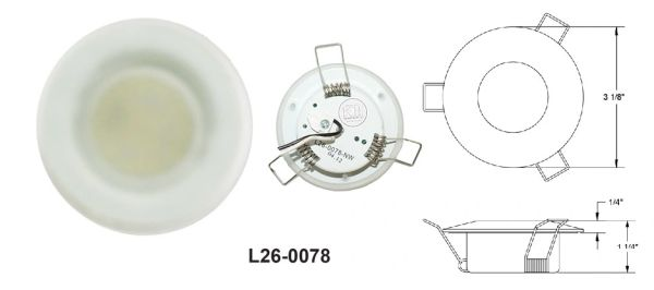 3 Inch 15 LED Overhead Light L26-0078