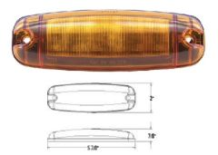 LED Marker Light, Amber 12 Diode, L14-0026A