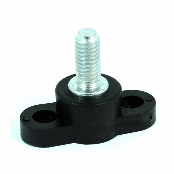 Black Junction Block 3/8 Inch Non-Feed Through Stud