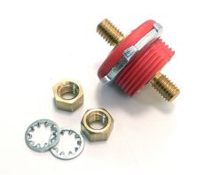 3/8 Inch Red Battery Feeder Pass Through Stud
