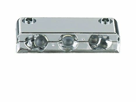3 LED Diode Chrome Plumbing Bay Lights