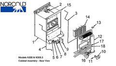 Norcold Refrigerator 12V 150 Watt Heat Element 619065