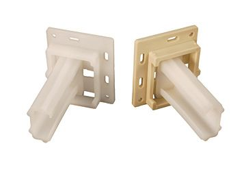 RV Designer Small C-Shaped Drawer Slide Sockets, H306