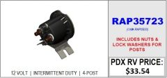 HWH Intermittent Duty Pump Relay RAP35723