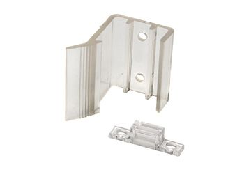 RV Designer Sliding Mirrored Door Latch, Clear, H527