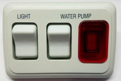 RV Bathroom Light Switch / Water Pump Switch / Water Pump Indicator Panel AH-ASY-3-1-008