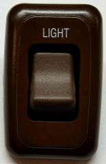 12 VDC Single Brown Contoured Light Switch Assembly AH-ASY-1-2-004