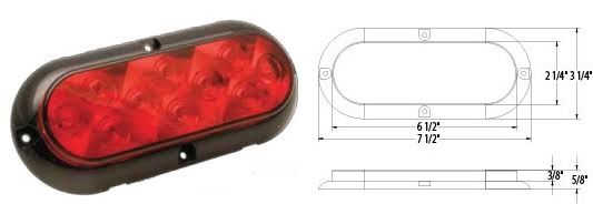 LED TAIL LAMP, 10 LED, L15-0042