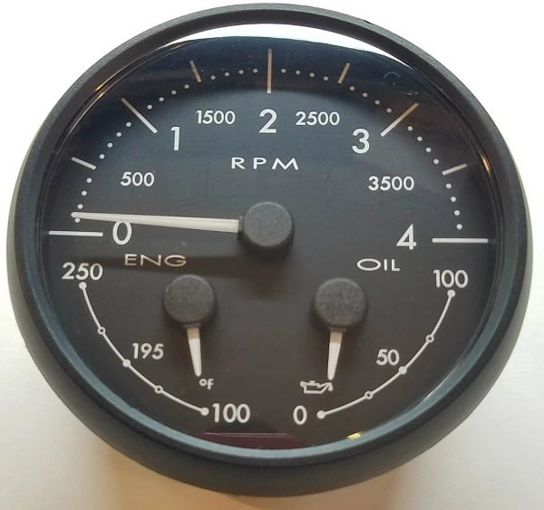 Medallion Tach / Oil / Temp Dash Gauge 8640-40010-01