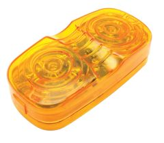Amber LED Double Bullseye Marker / Clearance Light