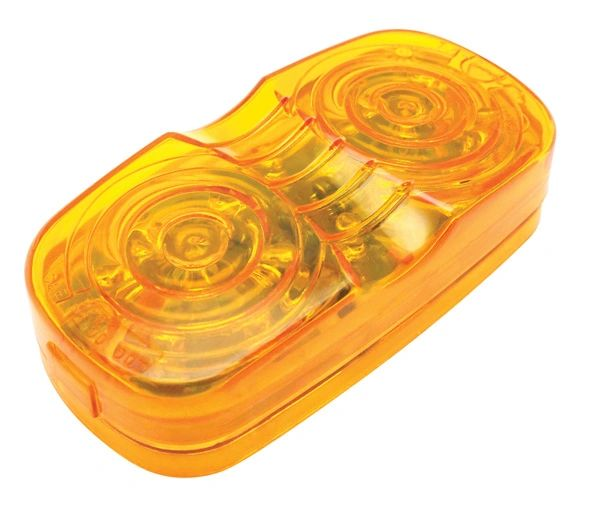 Amber LED Double Bullseye Marker / Clearance Light