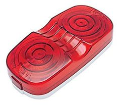 Red Incandescent Double Bullseye Marker / Clearance Light