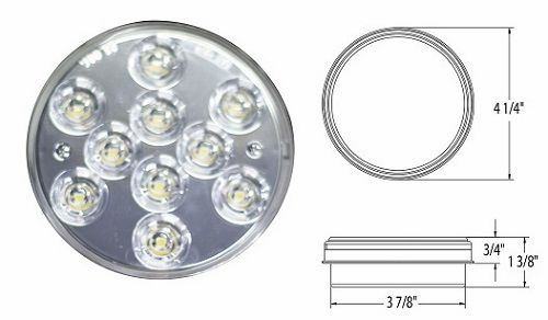 10 LED Backup Light Assembly L16-0049