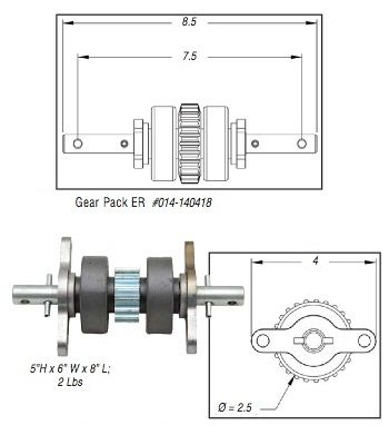 Lippert Embedded Rack Gear Pack Assembly 140418