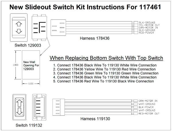 Lci Slide Out Switch Assembly 117461 Pdxrvwholesale