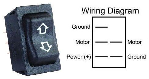 Lippert Black Slide-Out Extend / Retract Switch 117426