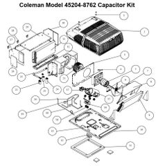 Coleman Air Conditioner Model 45204-8762 Capacitor Kit