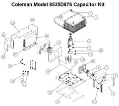 Coleman Heat Pump Model 8535D876 Capacitor Kit