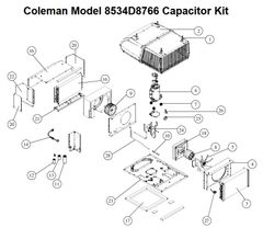 Coleman Heat Pump Model 8534D8766 Capacitor Kit