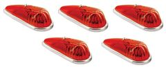 Red Incandescent Teardrop Marker Light Kit