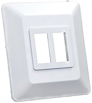 Double White Switch Base and Face Plate 13615