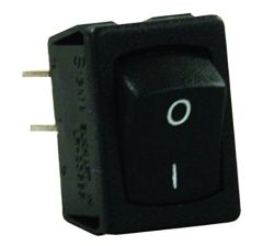 12 VDC Mini Switch, Labeled On/Off I-O, Black