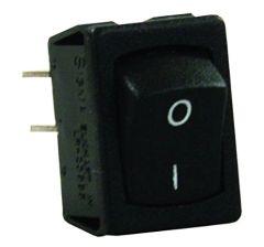 12 VDC Mini Switch, Labeled On/Off I-O, Black