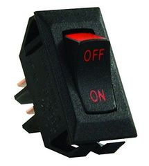 12 VDC Interior Switch, Labeled On / Off Red Print