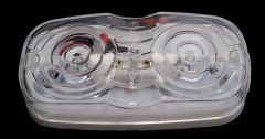 Clear Incandescent Double Bullseye Marker / Clearance Light, 1A-S-90W