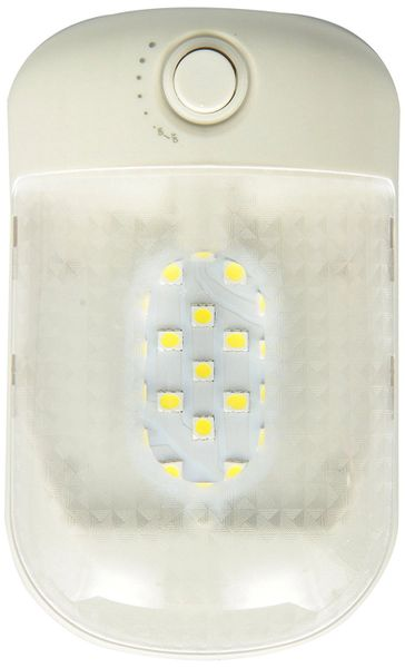 LED Single Ceiling / Dome Light Assembly, 21 LED, 230 Lumens, With Dimmer Switch, 9090101