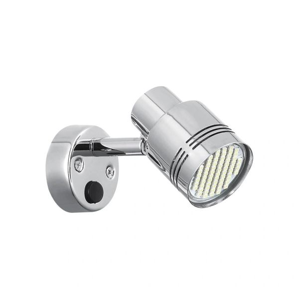 LED Reading Light, 66 LED, 190 Lumen, Chrome Finish, 9090109
