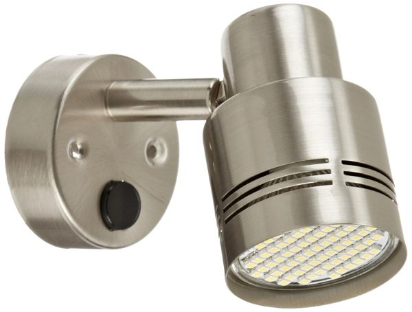 LED Reading Light, 66 LED, 190 Lumen, Brushed Nickel Finish, 9090108