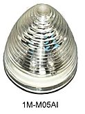 """2"""" Round, Clear Lens, Amber 9 Diode LED Marker Light - Beehive Style, 1M-M05AI"""