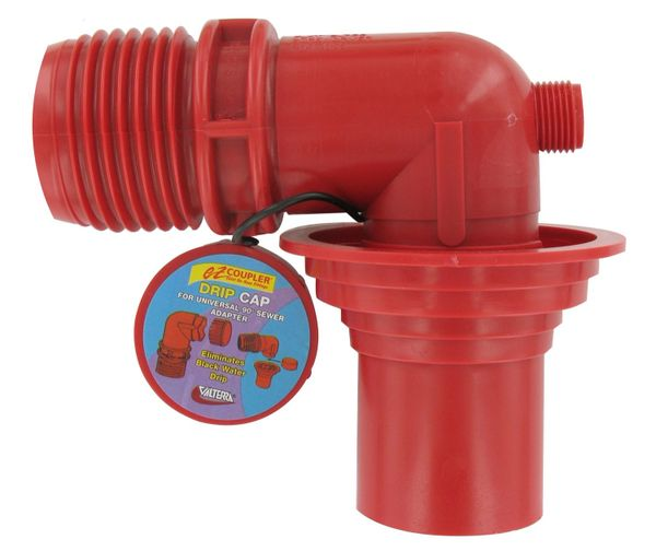 Valterra EZ Coupler Universal Sewer Adapter, Red, Carded, F02-3103