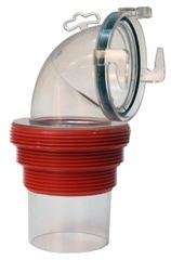 Valterra EZ Coupler Threaded 90-Degree Bayonet Sewer Fitting – Clear, F02-3112CL