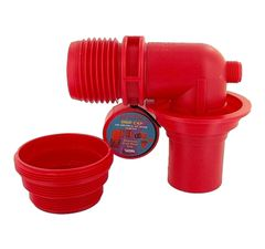 Valterra EZ Coupler 90° Sewer Adapter & Thread Attachment, Red, Carded, F02-3305VP