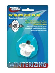 Valterra Blow Out Plug, White, Carded, P23500VP