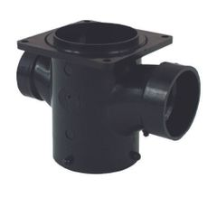 "Valterra Double RV Sanitary Tee - 3"" Lug x 3"" Rotating Flange x 2"" Hub x 2"" Hub, T1013"