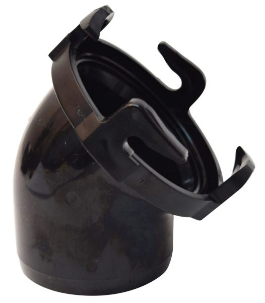 "Valterra Adapter for RV Sewer Hose, 3"" Bayonet Fitting, 45 Degree, Black, T1025"
