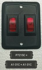 Black Dual Switch Wall Plate with Dual Switch / Dual Indicator / Switch & Indicator Kit