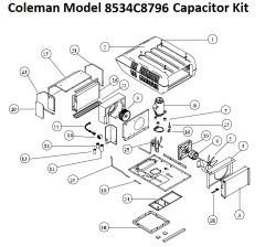 Coleman Heat Pump Model 8534C8796 Capacitor Kit
