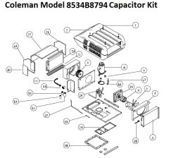 Coleman Heat Pump Model 8534B8794 Capacitor Kit