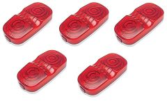 Red Incandescent Double Bullseye Marker / Clearance Light Kit