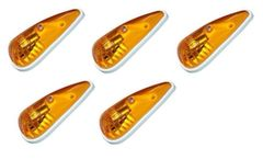 Amber With White Base Incandescent Teardrop Marker Light Kit