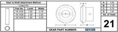 Power Gear / Lippert 21 Tooth Gear 521129