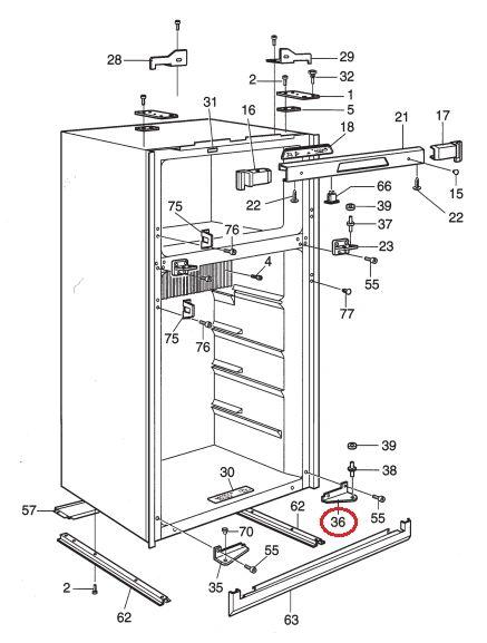 Dometic Refrigerator Hinge, Right Hand, 2932111020
