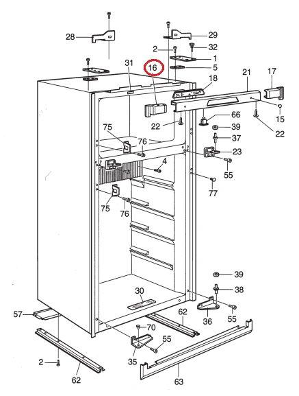 Dometic Refrigerator Cover, Endplate, Left Hand, Upper, 2931866020
