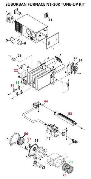 Suburban Furnace Model NT-30K Tune-Up Kit
